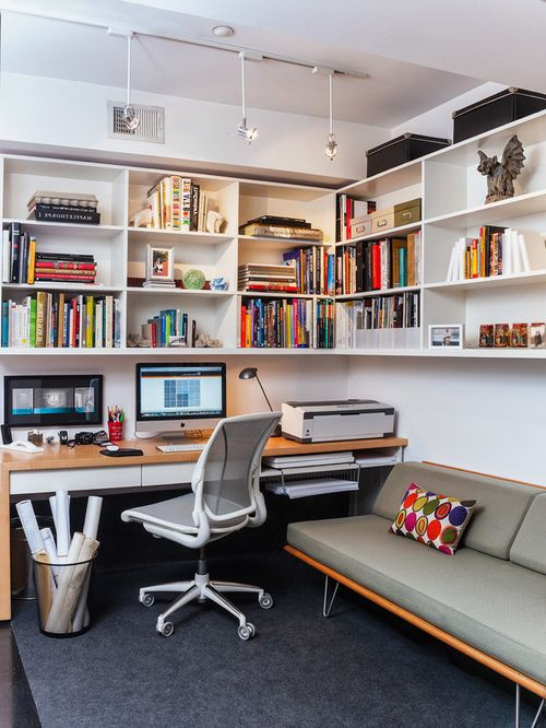 Oficinas modernas en casa 40 fotos e ideas decorevista for Imagenes de fachadas de oficinas modernas