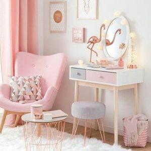 Decoración en color rosa