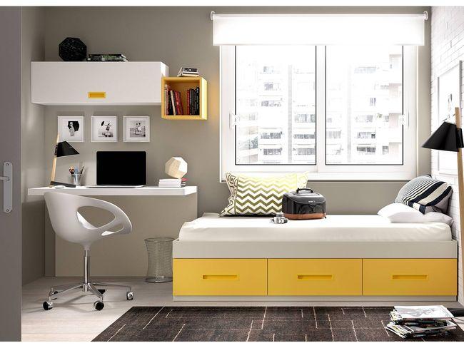 Dormitorios juveniles muebles e ideas decorevista - Camas con escritorio debajo ...