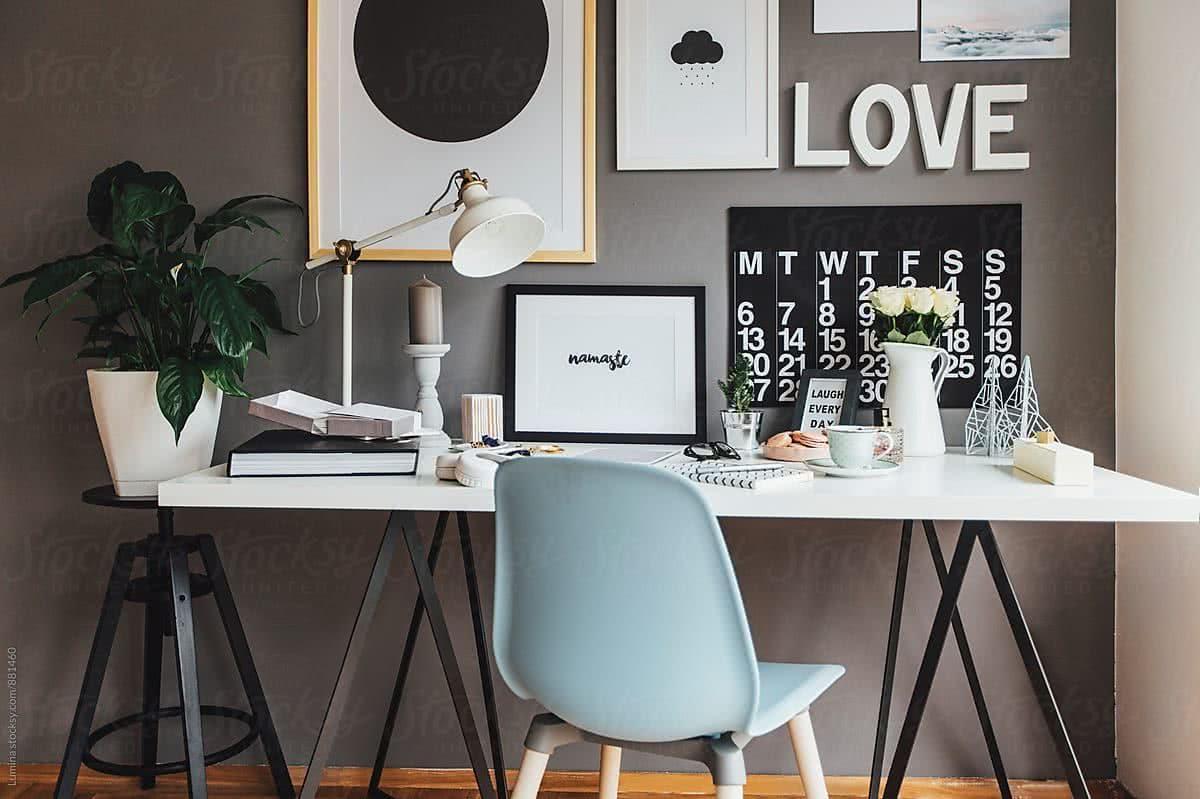 Elegantes Escritorios De Oficina Modernos.Oficinas Modernas En Casa 40 Fotos E Ideas Decorevista